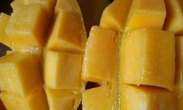 Fetta del mango Immagine Stock