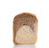 Fetta del pane bianco di Brown Immagini Stock Libere da Diritti