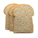 Fetta del pane del pane tostato isolato su fondo bianco Fotografie Stock