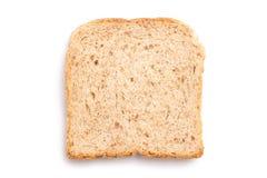 Fetta del pane isolata Fotografia Stock