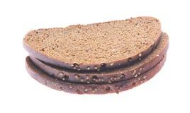 Fetta del pane nero Fotografie Stock