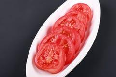 Fetta del pomodoro delle verdure Fotografia Stock