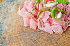 Fetta del porco per alimento Immagine Stock Libera da Diritti