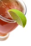 Fetta della birra e della calce di Microbrew Fotografie Stock Libere da Diritti