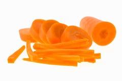 Fetta della carota isolata Fotografia Stock