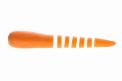 Fetta della carota isolata Immagini Stock