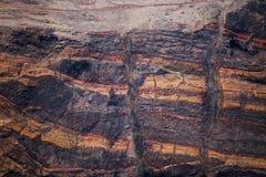 Fetta della crosta terrestre Fotografie Stock