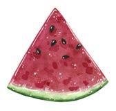 Fetta della frutta dell'anguria, illustrazione dell'acquerello illustrazione vettoriale