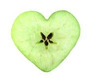 Fetta della mela del cuore Fotografia Stock Libera da Diritti