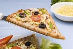 Fetta della pizza fotografie stock libere da diritti