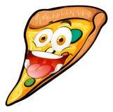 Fetta della pizza con il fronte divertente illustrazione di stock