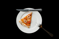 Fetta della pizza dei frutti di mare immagini stock