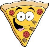 Fetta della pizza del fumetto Fotografia Stock Libera da Diritti