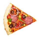 Fetta della pizza isolata Immagini Stock Libere da Diritti