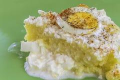 Fetta della polenta Fotografia Stock