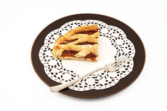 Fetta della torta della frutta Immagine Stock Libera da Diritti