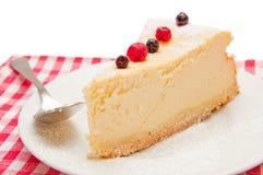 Fetta della torta di formaggio Fotografia Stock