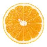 Fetta di agrumi arancio isolati su bianco Fotografie Stock Libere da Diritti