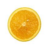 Fetta di arancio isolata su bianco Immagine Stock Libera da Diritti
