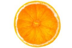 Fetta di arancio isolata su priorità bassa bianca Fotografia Stock