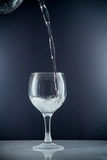 Fetta di cali in un bicchiere d'acqua Fotografia Stock