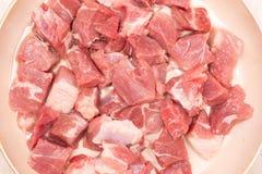 Fetta di carne suina cruda fotografia stock libera da diritti