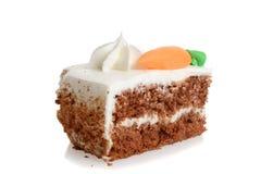 Fetta di dolce alle carote con glassare Fotografia Stock