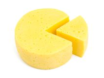 Fetta di formaggio Fotografia Stock Libera da Diritti
