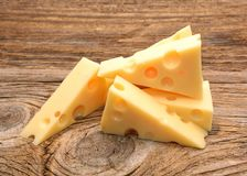 Fetta di formaggio fotografie stock