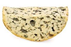 Fetta di formaggio del roquefort Fotografie Stock