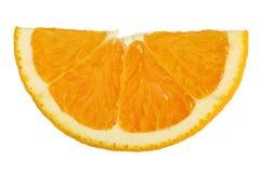 Fetta di frutta arancio Immagini Stock