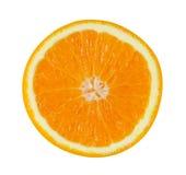 Fetta di frutta arancio su fondo bianco, Immagini Stock Libere da Diritti
