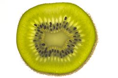 Fetta di frutta di kiwi Fotografia Stock