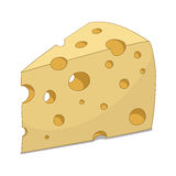 Fetta di illustrazione di vettore del formaggio Fotografia Stock Libera da Diritti