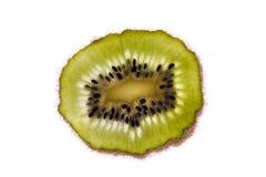 Fetta di kiwi con i semi Immagini Stock Libere da Diritti