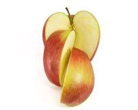 Fetta di mela rossa Fotografie Stock Libere da Diritti
