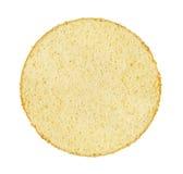 Fetta di pan di Spagna bianco su bianco Fotografia Stock