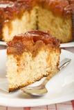 Fetta di pan di Spagna della mela Fotografia Stock