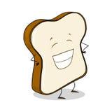 Fetta di pane bianco Fotografia Stock