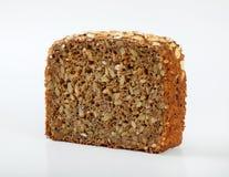 Fetta di pane del girasole Immagine Stock