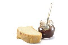 Fetta di pane e di marmelade fotografie stock libere da diritti