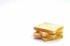 Fetta di pane integrale isolato Fotografia Stock Libera da Diritti