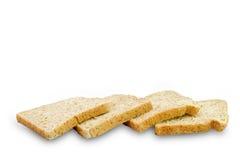 Fetta di pane integrale isolato Fotografie Stock