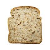 Fetta di pane isolata su bianco Fotografie Stock