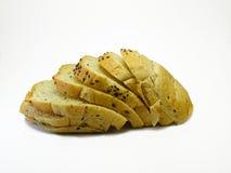 Fetta di pane su fondo bianco Fotografia Stock Libera da Diritti
