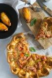 Fetta di pizza fresca Fotografia Stock