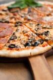 Fetta di quattro stagioni della pizza Fotografia Stock