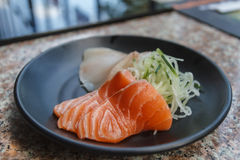 Fetta di salmoni freschi immagini stock libere da diritti