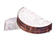 Fetta di taro isolata su fondo bianco Fotografie Stock Libere da Diritti