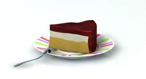 Fetta di torta Fotografie Stock Libere da Diritti